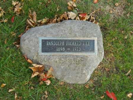 RICE, RANDOLPH PACKARD - Barnstable County, Massachusetts | RANDOLPH PACKARD RICE - Massachusetts Gravestone Photos