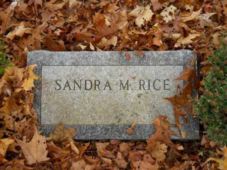 RICE, SANDRA M - Barnstable County, Massachusetts | SANDRA M RICE - Massachusetts Gravestone Photos