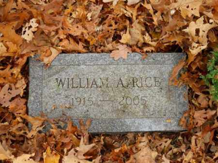 RICE, WILLIAM A - Barnstable County, Massachusetts | WILLIAM A RICE - Massachusetts Gravestone Photos