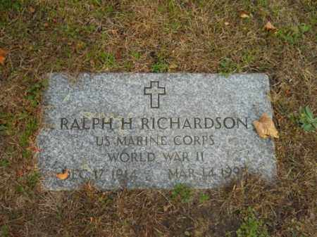 RICHARDSON (WWII), RALPH H - Barnstable County, Massachusetts | RALPH H RICHARDSON (WWII) - Massachusetts Gravestone Photos