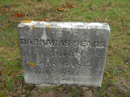 SEARS, BARNABAS - Barnstable County, Massachusetts   BARNABAS SEARS - Massachusetts Gravestone Photos
