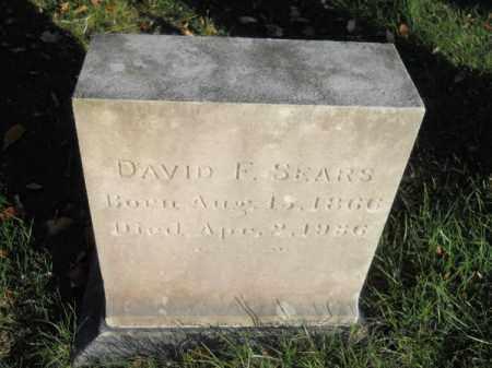 SEARS, DAVID F - Barnstable County, Massachusetts   DAVID F SEARS - Massachusetts Gravestone Photos