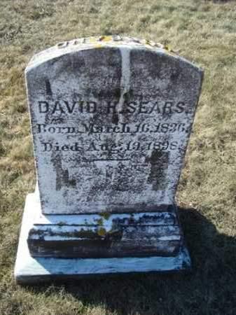 SEARS, DAVID HENRY - Barnstable County, Massachusetts   DAVID HENRY SEARS - Massachusetts Gravestone Photos
