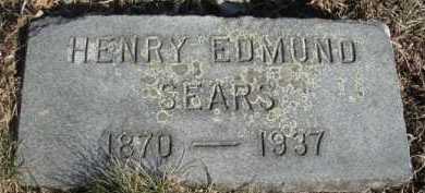 SEARS, HENRY EDMUND - Barnstable County, Massachusetts | HENRY EDMUND SEARS - Massachusetts Gravestone Photos