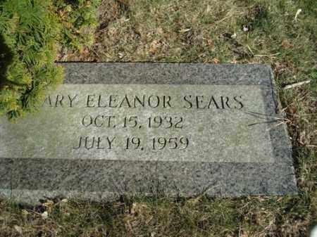 SEARS, MARY ELEANOR - Barnstable County, Massachusetts | MARY ELEANOR SEARS - Massachusetts Gravestone Photos