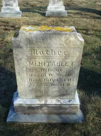 SEARS, MEHITABLE F - Barnstable County, Massachusetts | MEHITABLE F SEARS - Massachusetts Gravestone Photos