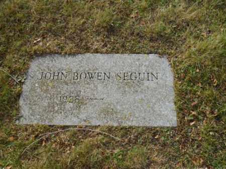 SEGUIN, JOHN BOWEN - Barnstable County, Massachusetts | JOHN BOWEN SEGUIN - Massachusetts Gravestone Photos