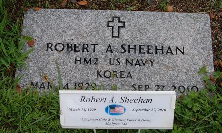 SHEEHAN, ROBERT A - Barnstable County, Massachusetts | ROBERT A SHEEHAN - Massachusetts Gravestone Photos