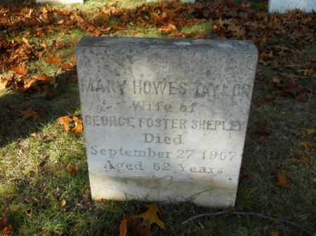 TAYLOR, MARY HOWES - Barnstable County, Massachusetts | MARY HOWES TAYLOR - Massachusetts Gravestone Photos