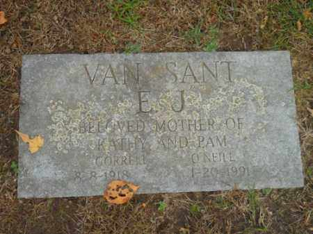 VAN SANT, E J - Barnstable County, Massachusetts | E J VAN SANT - Massachusetts Gravestone Photos