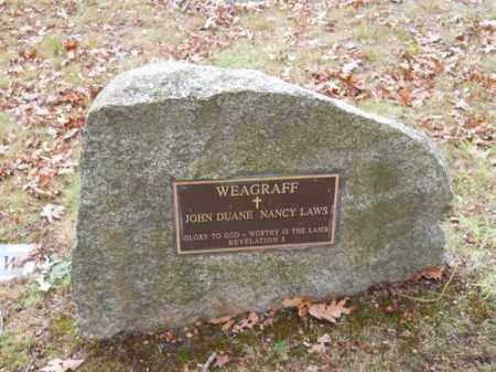 WEAGRAFF, JOHN DUANE - Barnstable County, Massachusetts | JOHN DUANE WEAGRAFF - Massachusetts Gravestone Photos