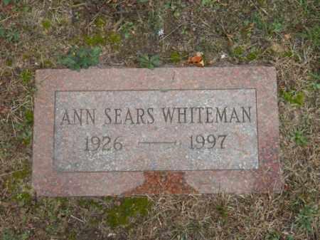 SEARS WHITEMAN, ANN - Barnstable County, Massachusetts | ANN SEARS WHITEMAN - Massachusetts Gravestone Photos