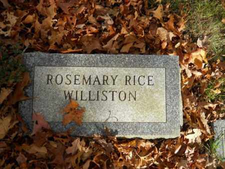 WILLISTON, ROSEMARY RICE - Barnstable County, Massachusetts | ROSEMARY RICE WILLISTON - Massachusetts Gravestone Photos
