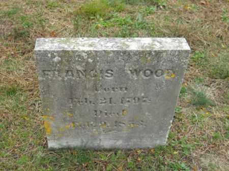 WOOD, FRANCIS - Barnstable County, Massachusetts | FRANCIS WOOD - Massachusetts Gravestone Photos