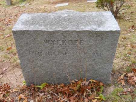WYCKOFF, FREDERICK A JR - Barnstable County, Massachusetts | FREDERICK A JR WYCKOFF - Massachusetts Gravestone Photos