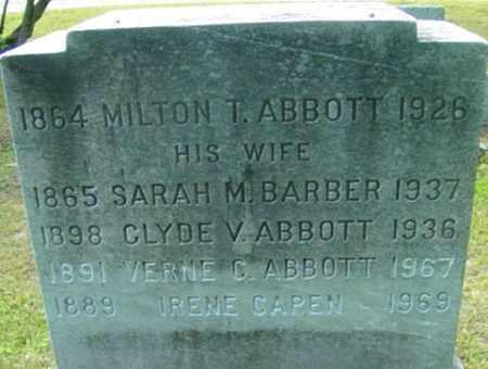 BARBER, SARAH M - Berkshire County, Massachusetts   SARAH M BARBER - Massachusetts Gravestone Photos