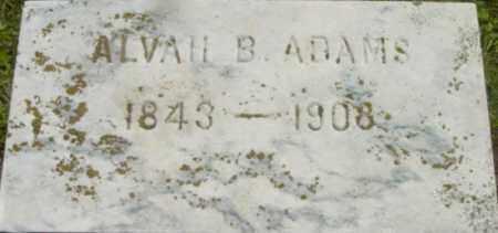 ADAMS, ALVAH B - Berkshire County, Massachusetts   ALVAH B ADAMS - Massachusetts Gravestone Photos