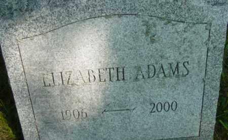 ADAMS, ELIZABETH - Berkshire County, Massachusetts | ELIZABETH ADAMS - Massachusetts Gravestone Photos