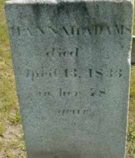 ADAMS, HANNAH - Berkshire County, Massachusetts | HANNAH ADAMS - Massachusetts Gravestone Photos