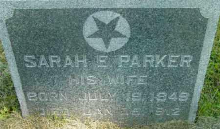 PARKER, SARAH E - Berkshire County, Massachusetts   SARAH E PARKER - Massachusetts Gravestone Photos