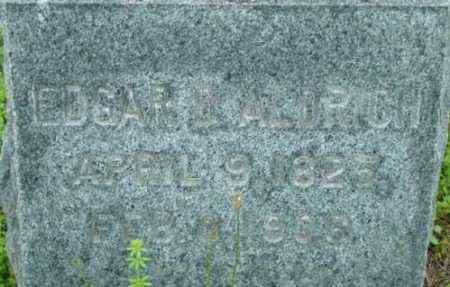 ALDRICH, EDGAR A - Berkshire County, Massachusetts | EDGAR A ALDRICH - Massachusetts Gravestone Photos