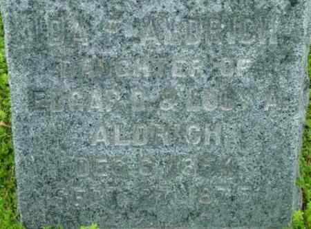 ALDRICH, IDA F - Berkshire County, Massachusetts | IDA F ALDRICH - Massachusetts Gravestone Photos