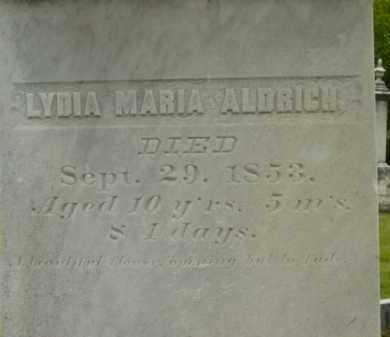 ALDRICH, LYDIA MARIA - Berkshire County, Massachusetts | LYDIA MARIA ALDRICH - Massachusetts Gravestone Photos