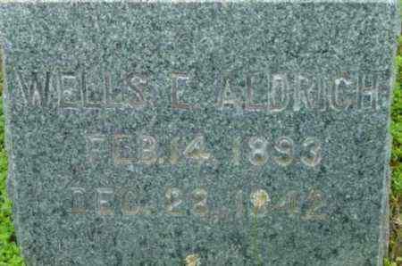 ALDRICH, WELLS E - Berkshire County, Massachusetts   WELLS E ALDRICH - Massachusetts Gravestone Photos