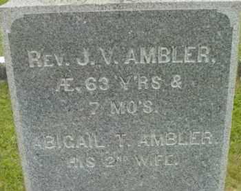 AMBLER, J V - Berkshire County, Massachusetts | J V AMBLER - Massachusetts Gravestone Photos