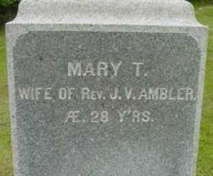 AMBLER, MARY T - Berkshire County, Massachusetts | MARY T AMBLER - Massachusetts Gravestone Photos