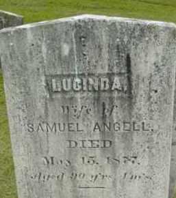 ANGELL, LUCINDA - Berkshire County, Massachusetts | LUCINDA ANGELL - Massachusetts Gravestone Photos