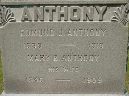 ANTHONY, MARY B - Berkshire County, Massachusetts | MARY B ANTHONY - Massachusetts Gravestone Photos