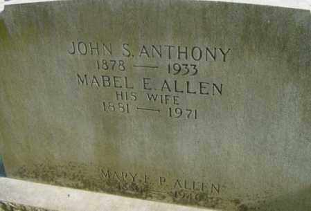 ANTHONY, MABEL E - Berkshire County, Massachusetts | MABEL E ANTHONY - Massachusetts Gravestone Photos
