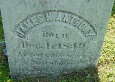 ANTHONY, JAMES N - Berkshire County, Massachusetts | JAMES N ANTHONY - Massachusetts Gravestone Photos