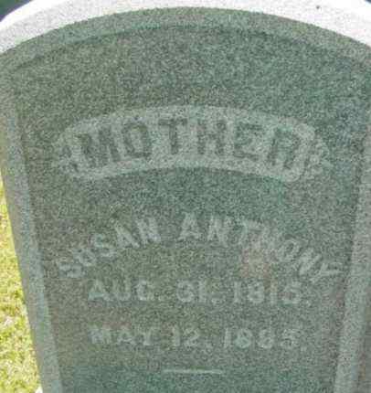 ANTHONY, SUSAN - Berkshire County, Massachusetts | SUSAN ANTHONY - Massachusetts Gravestone Photos