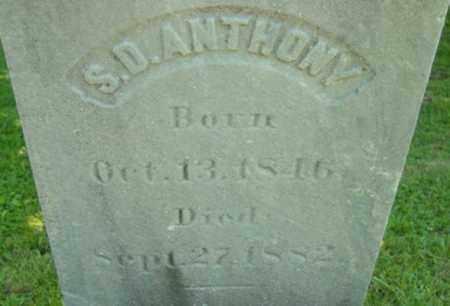 ANTHONY, S D - Berkshire County, Massachusetts | S D ANTHONY - Massachusetts Gravestone Photos