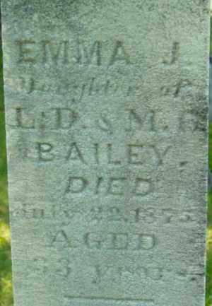 BAILEY, EMMA J - Berkshire County, Massachusetts   EMMA J BAILEY - Massachusetts Gravestone Photos