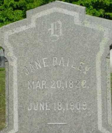 BAILEY, JANE - Berkshire County, Massachusetts   JANE BAILEY - Massachusetts Gravestone Photos