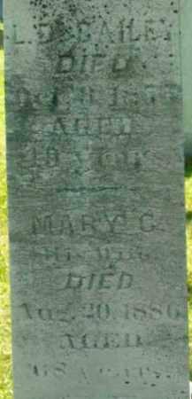 BAILEY, MARY C - Berkshire County, Massachusetts | MARY C BAILEY - Massachusetts Gravestone Photos