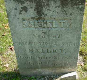 BAILEY, SAMUEL T - Berkshire County, Massachusetts | SAMUEL T BAILEY - Massachusetts Gravestone Photos