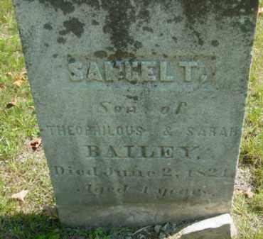 BAILEY, SAMUEL T - Berkshire County, Massachusetts | SAMUEL T BAILEY - Massachusetts Gravestone Photos