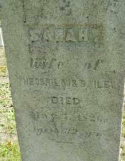 BAILEY, SARAH - Berkshire County, Massachusetts   SARAH BAILEY - Massachusetts Gravestone Photos
