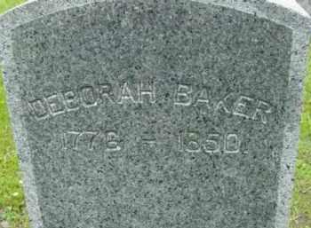 BAKER, DEBORAH - Berkshire County, Massachusetts   DEBORAH BAKER - Massachusetts Gravestone Photos