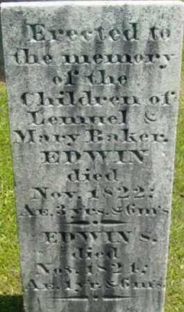 BAKER, EDWIN - Berkshire County, Massachusetts | EDWIN BAKER - Massachusetts Gravestone Photos