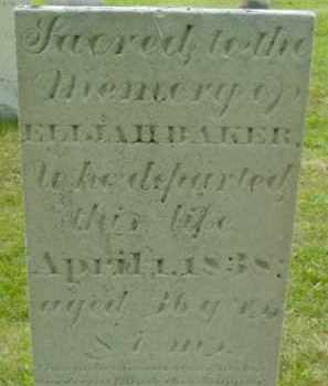 BAKER, ELIJAH - Berkshire County, Massachusetts | ELIJAH BAKER - Massachusetts Gravestone Photos