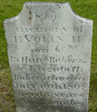 BAKER, EVOLIN H - Berkshire County, Massachusetts | EVOLIN H BAKER - Massachusetts Gravestone Photos