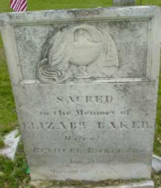 BAKER, ELIZABETH - Berkshire County, Massachusetts   ELIZABETH BAKER - Massachusetts Gravestone Photos