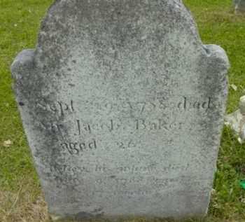 BAKER, JACOB - Berkshire County, Massachusetts | JACOB BAKER - Massachusetts Gravestone Photos