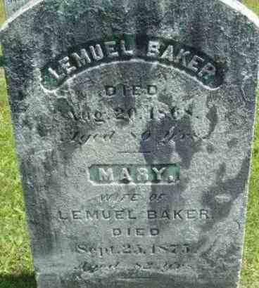 BAKER, MARY - Berkshire County, Massachusetts | MARY BAKER - Massachusetts Gravestone Photos