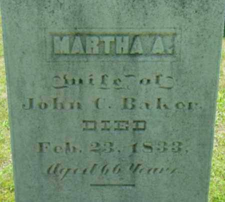 BAKER, MARTHA A - Berkshire County, Massachusetts   MARTHA A BAKER - Massachusetts Gravestone Photos